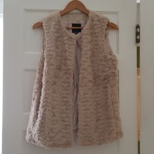 Three Neutral Colored Fur Vests XS/S